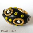 Black Bead Studded with Seed Beads and Accessories