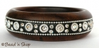 Black Colored Bangle Embedded with Rhinestones & Accessories
