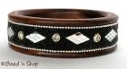 Black Colored Bangle Studded with Mirrors & Grains