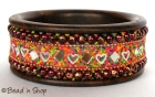 Bangle Studded with Colorful Grains & Accessories