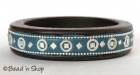 Blue Colored Bangle Embeded with Mirrors & Accessories