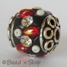 Black Bead Studded with Accessories & Rhinestones