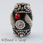 Black Beads Studded with Rhinestones & Accessories