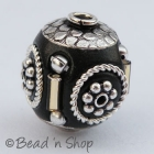 Black Beads Studded with Silver Plated Accessories