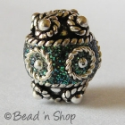 Glitter Bead Studded with Metal Ball & Rings