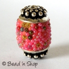 Pink Color Beads Studded with Grains