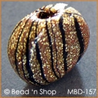 Golden-Black Unique Handshaped Bead