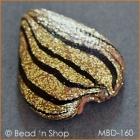 Golden-Black Heart Bead