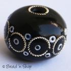 Black Egg Shaped Bead