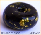 Black Ring Bead with Golden Spots