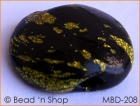 Black Button Bead with Golden Spots