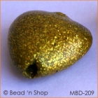 Shining Golden Heart Bead