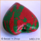 Red+Green Heart Bead