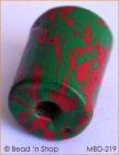 Red+Green Cylindrical Bead