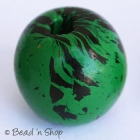 Round Green Bead with Black Spots