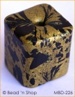 Golden with Black Spots Square Bead