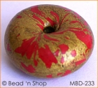Golden with Red Spots Ring Bead