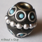 Black Bead Studded with Wire-bordered Balls