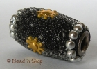 Black Bead with Brass-color Accessories