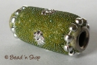 Bead Studded with Green Grains & Flower