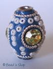 Blue Bead Studded with Big Rhinestone & Seed Beads