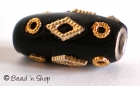 Black Bead Studded with Golden Accessories