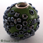 50pc Green Bead Studded with Seed Beed Accessories
