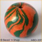 Round Orange-Green Bead