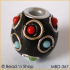 Black Bead Wire-bordered with Colorful Balls