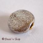 Silver Color Glitter Flat Bead