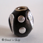 Black Bead Studded with Silver Accesseries