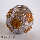 Silver Glitters Bead Studded with Golden Accessories