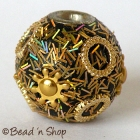 Golden Glitter Black Base Bead Studded with Accessories