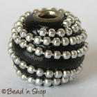 Round Black Bead with Silver Ball Chain