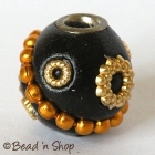 Black Bead Studded with Accessories & Golden chain