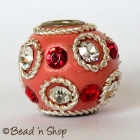 Pink Bead Studded with Wire-bordered & Rhinestones