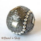 Gray Glitter Bead Studded with Mirror Chips