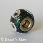 Glittering Euro Style Bead Studded with Flowers