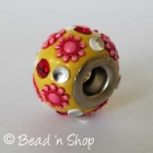 Yellow Euro Style Bead Studded with Flowers and Accessories