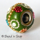 Green Euro Style Bead Studded with Metal Chain & Accessories