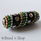 Black Bead Studded with Metal Chains & Accessories