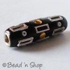 Black Cylindrical Bead Studded with Accessories