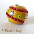 Yellow Bead Studded with Rhinestone & Accessories
