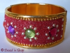 Bracelet Studded with Metal Grains & Accessories