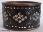 Black Bangle Studded with Rhinestones, Mirrors & Metal Wire
