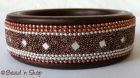 Bangle Studded with Brown Color Grains, Mirrors & Chains