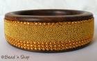 Bangle Studded with Yellow Grains & Metal Chains
