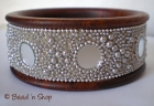 Bangle Studded with Round Mirrors & Grains