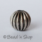 Round Silver Plated Copper Bead