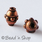 Oxidized Copper Bead in Cylindrical Shape